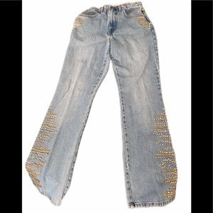 Express Flare Jeans w/Sequins Size 5/6